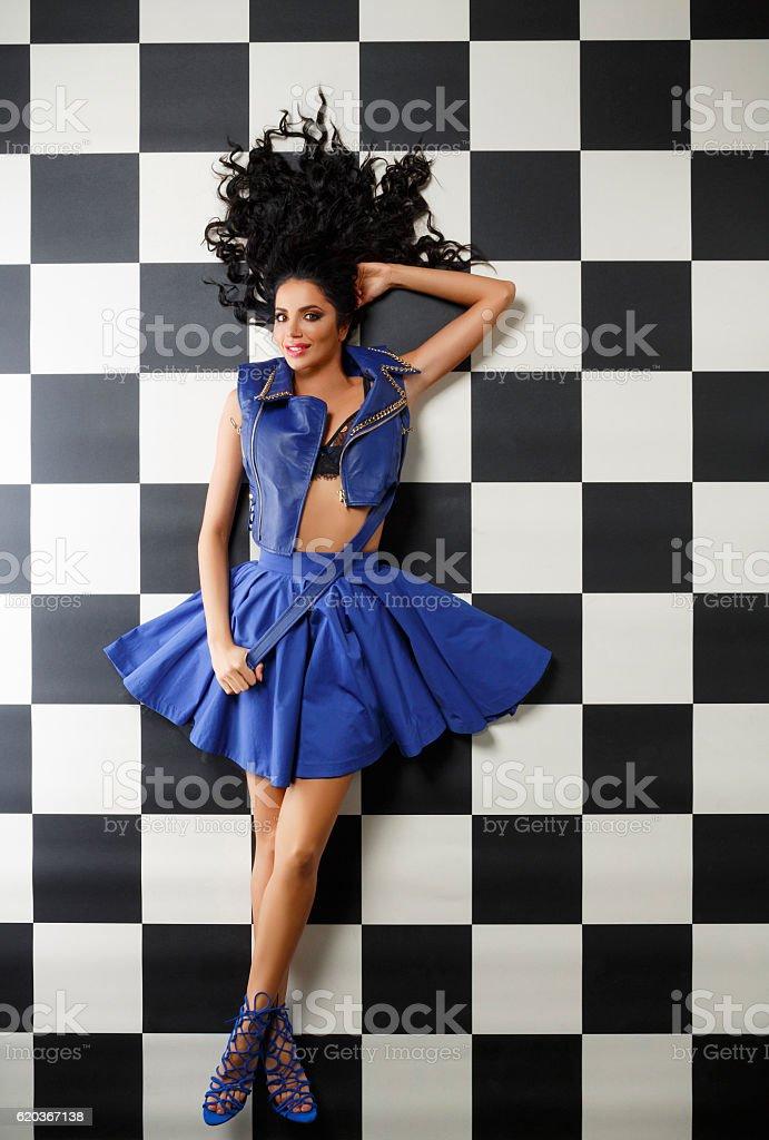 Fashion  Above view of  Beautiful Young Women zbiór zdjęć royalty-free