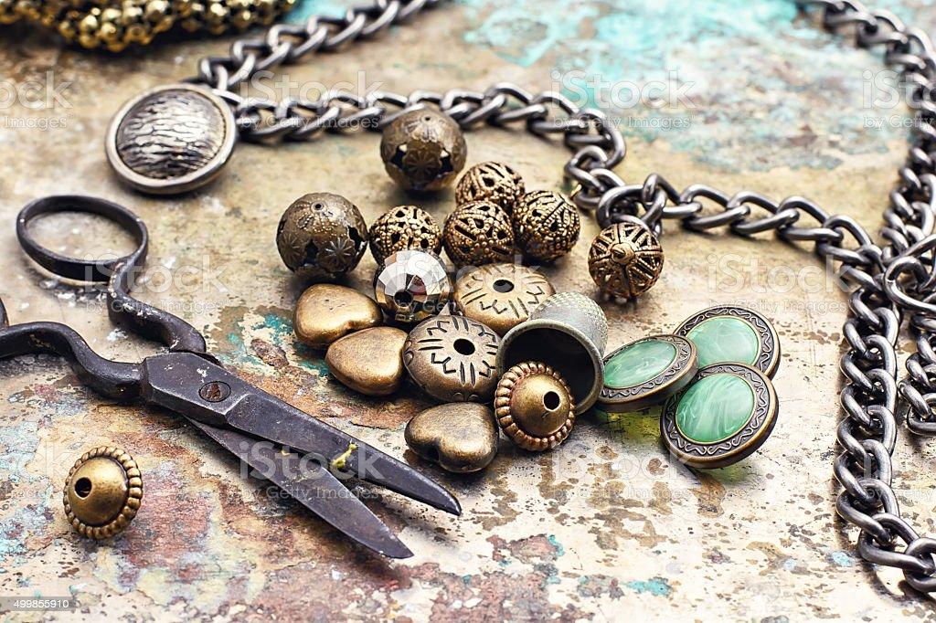 fashion accessory for needlework stock photo