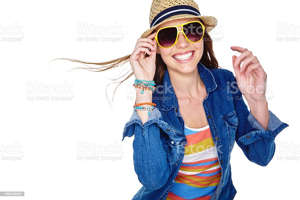 Fashion- all about combining cool clothing and attitude royalty-free stock photo