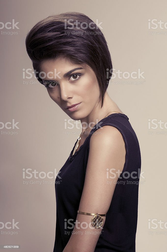 Fashion and hairstyle royalty-free stock photo