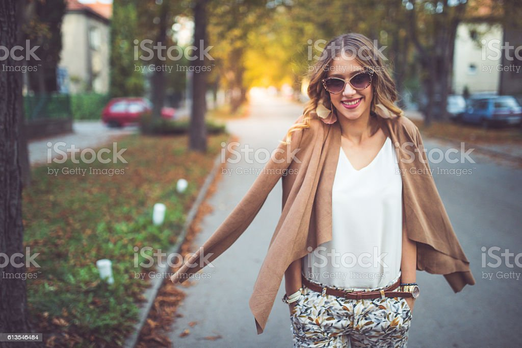Fashion and the city stock photo