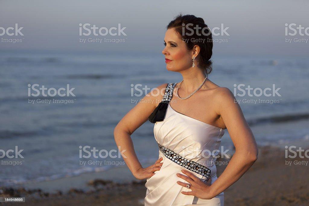Fashion at the beach stock photo