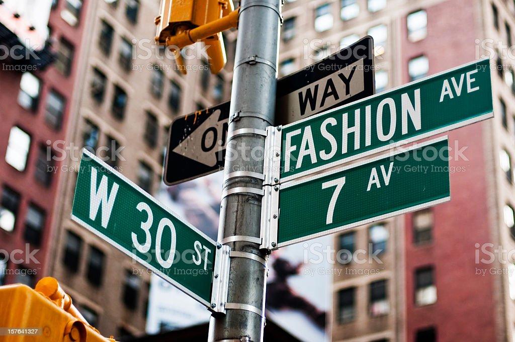 Fashion avenue street sign 84