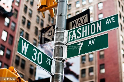 Fashion Avenue Street Sign in New York City