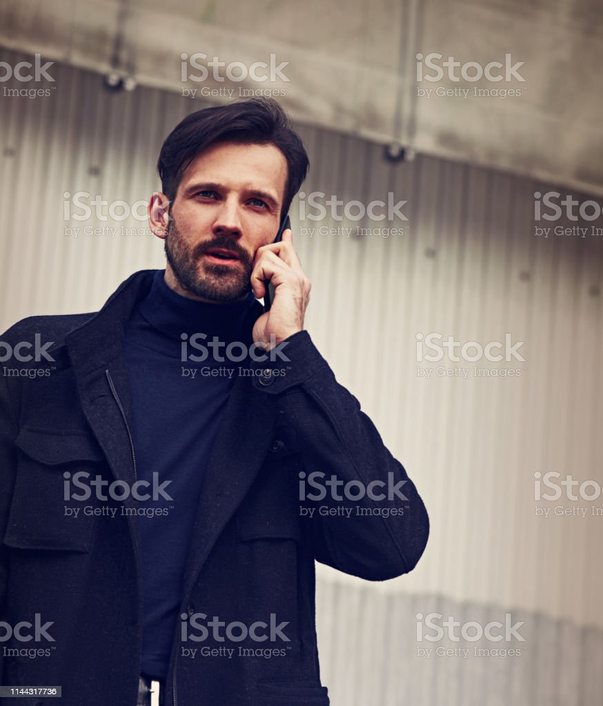 Fashion beard style business handsome male model in style clothing...