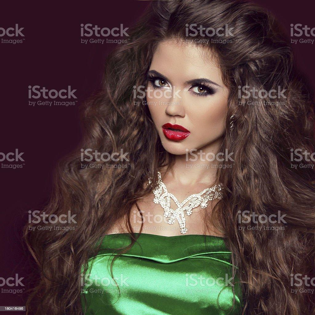Fashion Beauty Girl. Gorgeous Woman Portrait. Elegant lady royalty-free stock photo