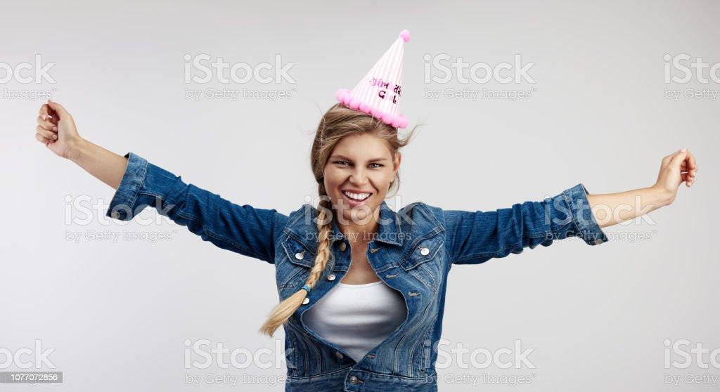 Mode-Geburtstagskind im studio – Foto