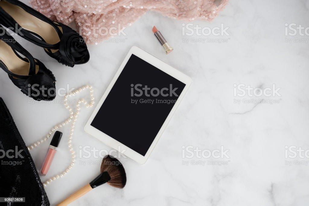 Mode-Blogger-Arbeitsbereich – Foto