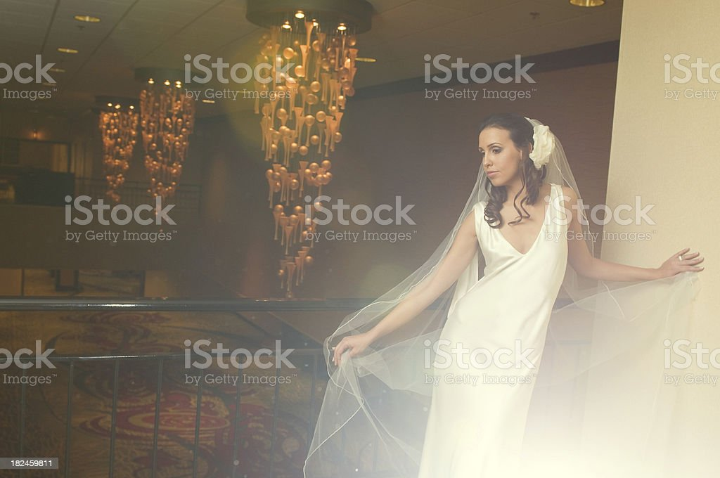 Retrato de moda noiva com véu longa foto royalty-free