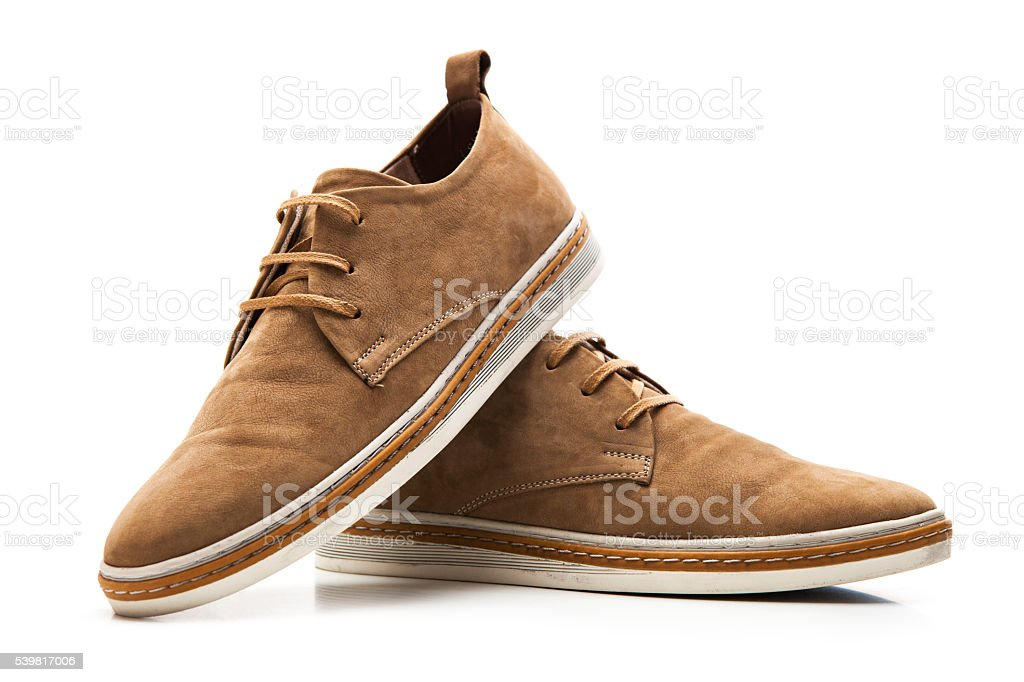 Fashion brown shoes stock photo