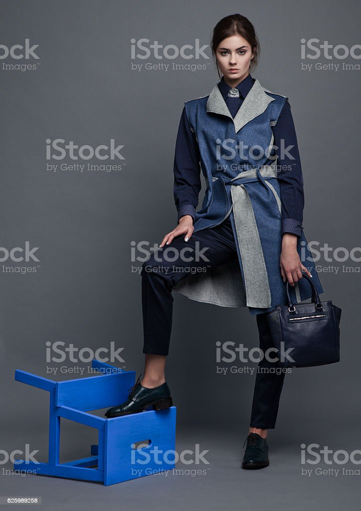 Fashion buisiness beautiful woman with accesories stock photo
