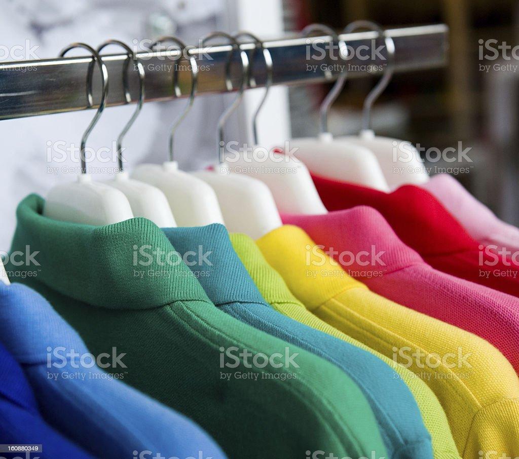 fashion clothing on hangers royalty-free stock photo