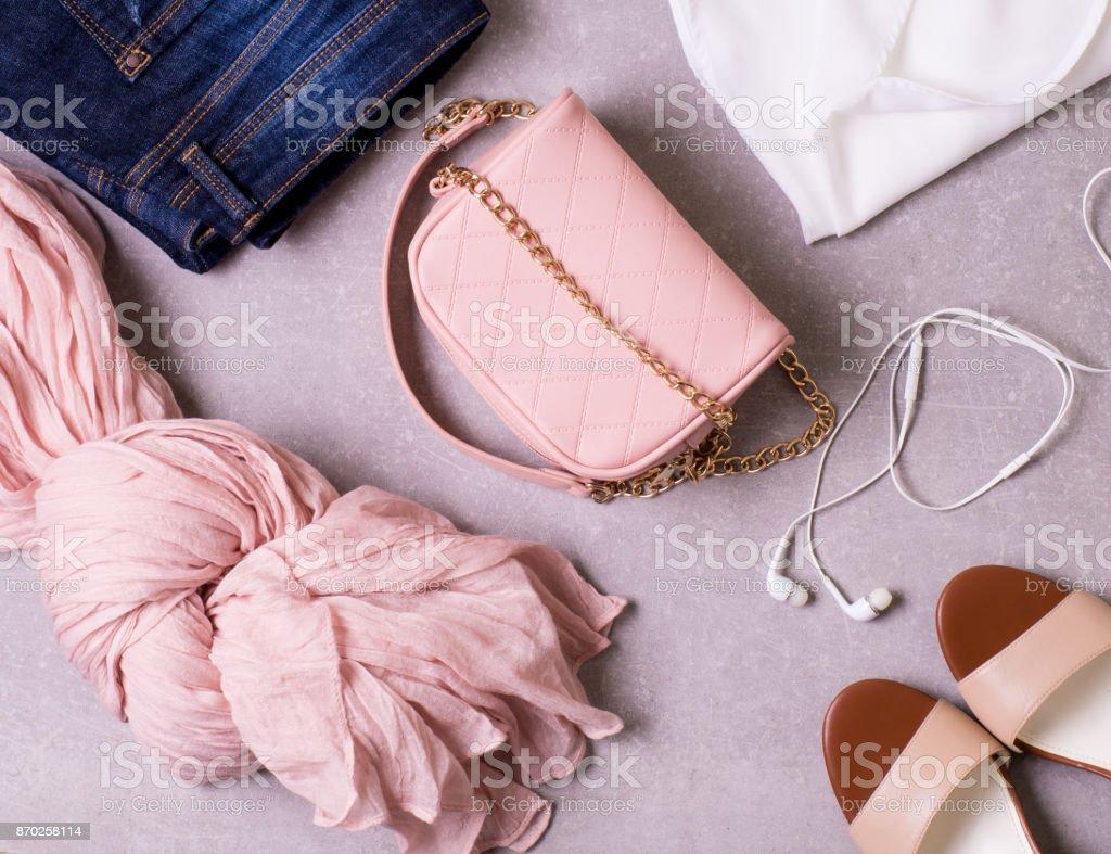 Fashion collage stock photo