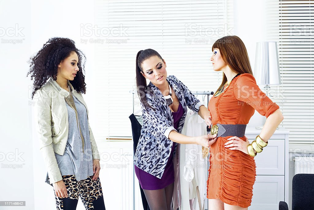 Fashion consultants at work royalty-free stock photo