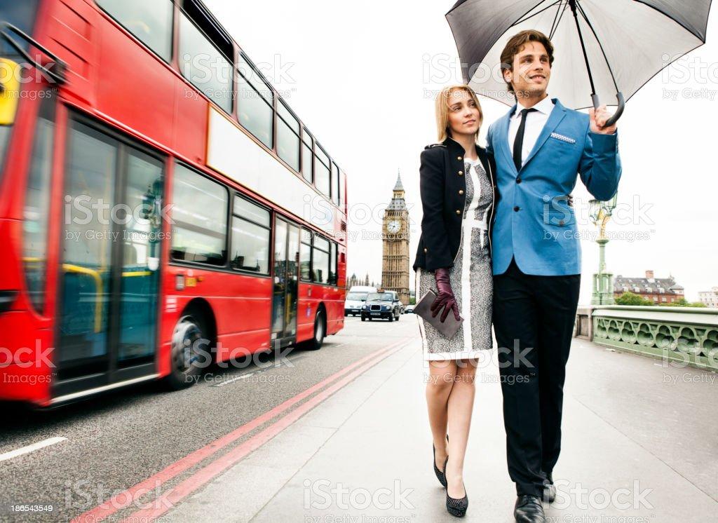 Modische Paar in London – Foto
