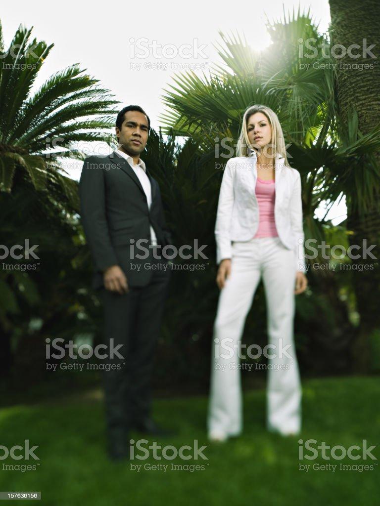 Fashion couple royalty-free stock photo