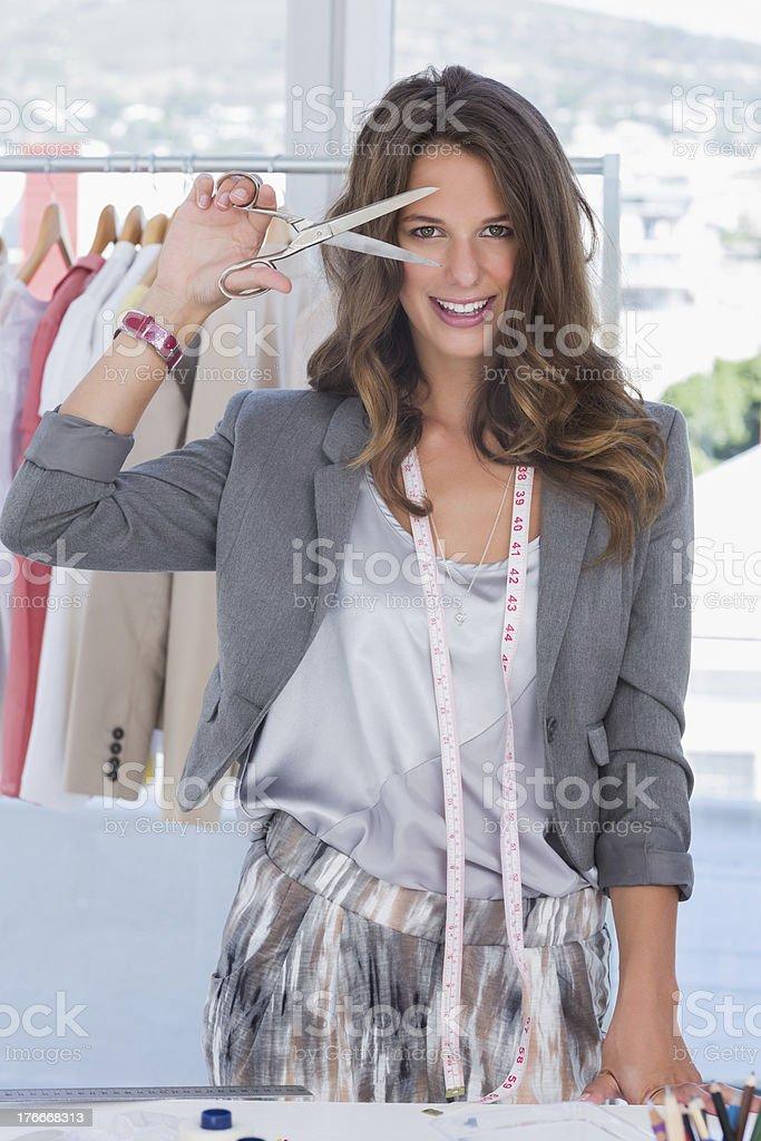 Fashion creative designer looking at the camera royalty-free stock photo