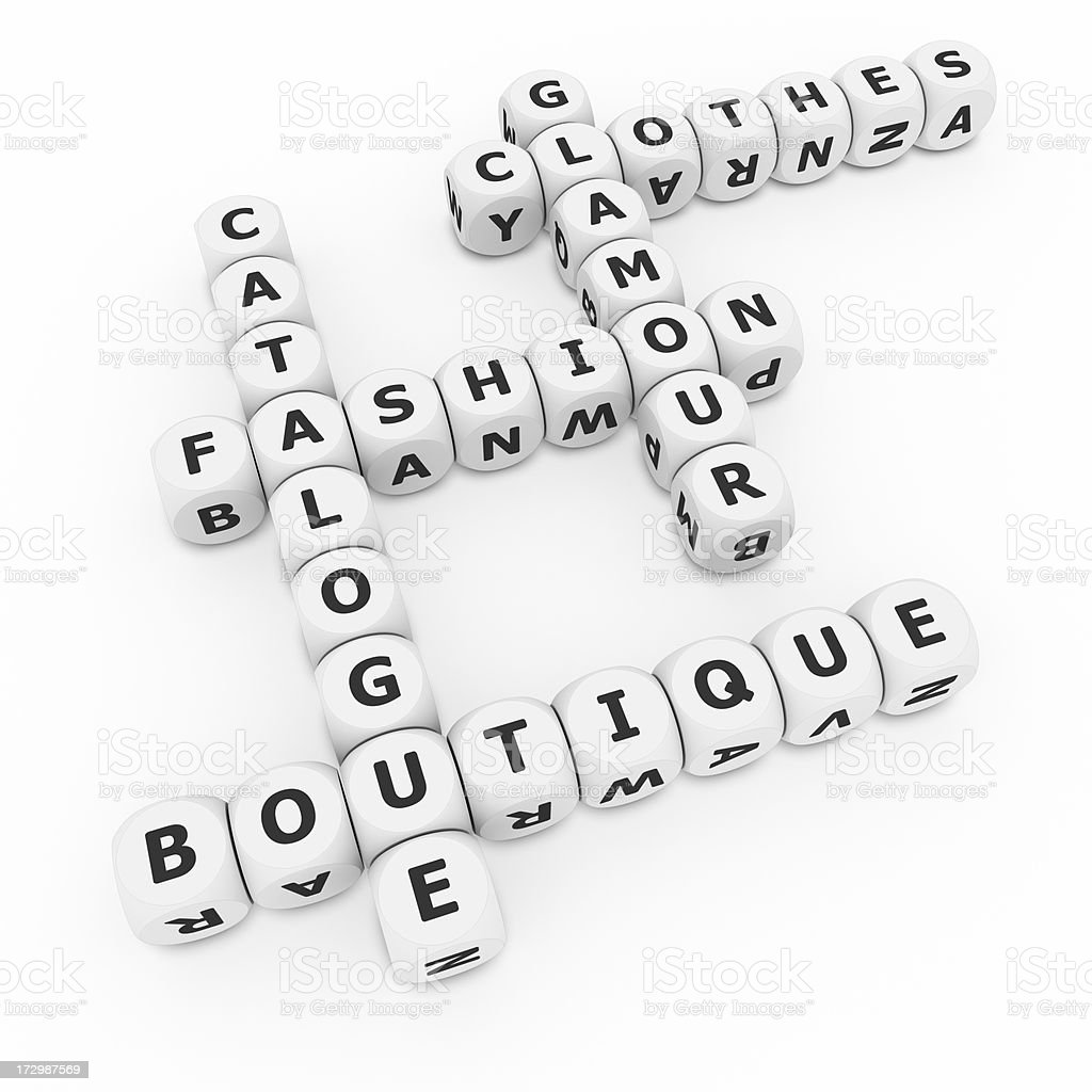 fashion crosswords on dices royalty-free stock photo