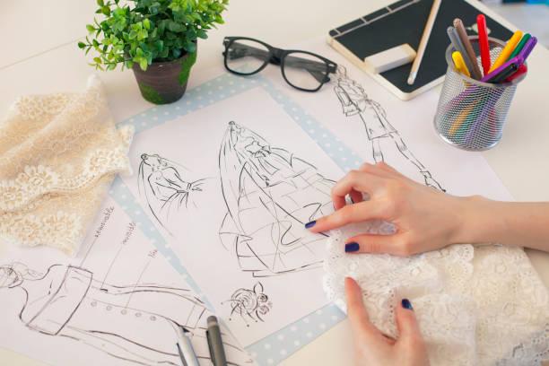 mode-design brautkleid - brautstyling stock-fotos und bilder