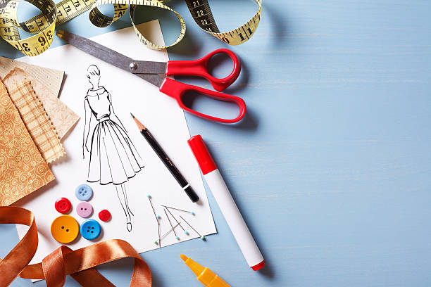fashion design - sketch stock photos and pictures
