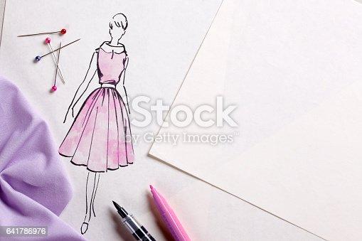 Fashion designer at work.