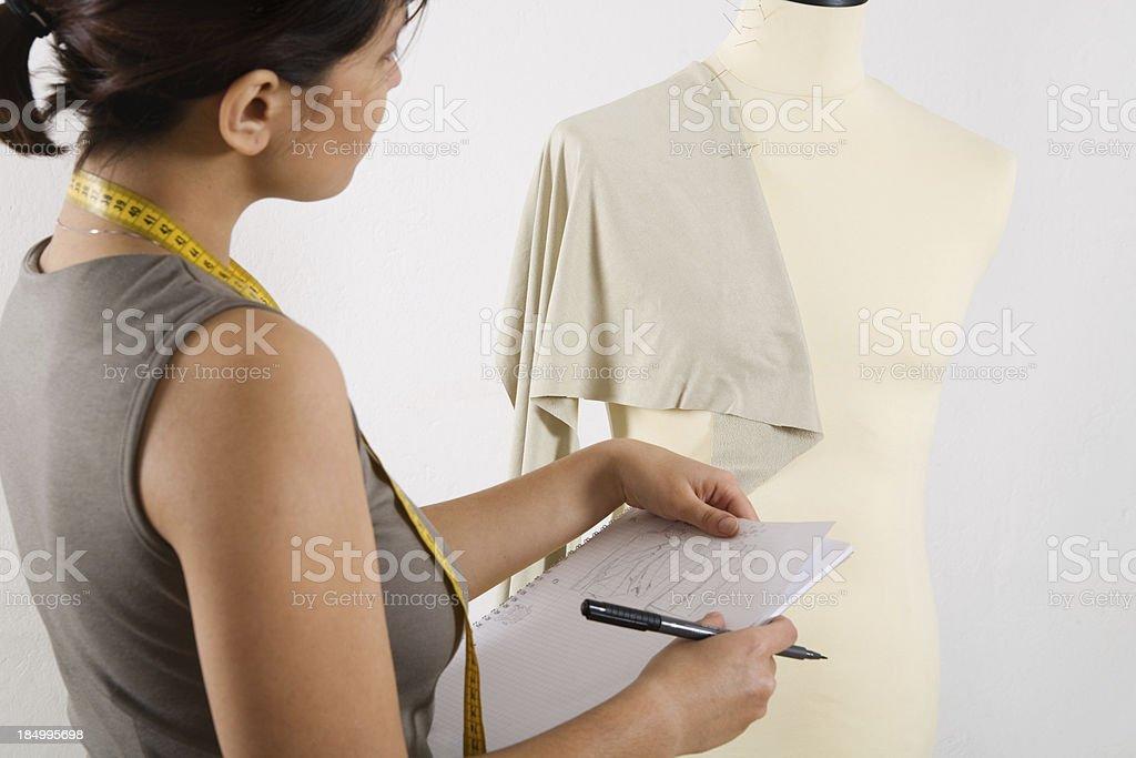 Fashion designer at work royalty-free stock photo