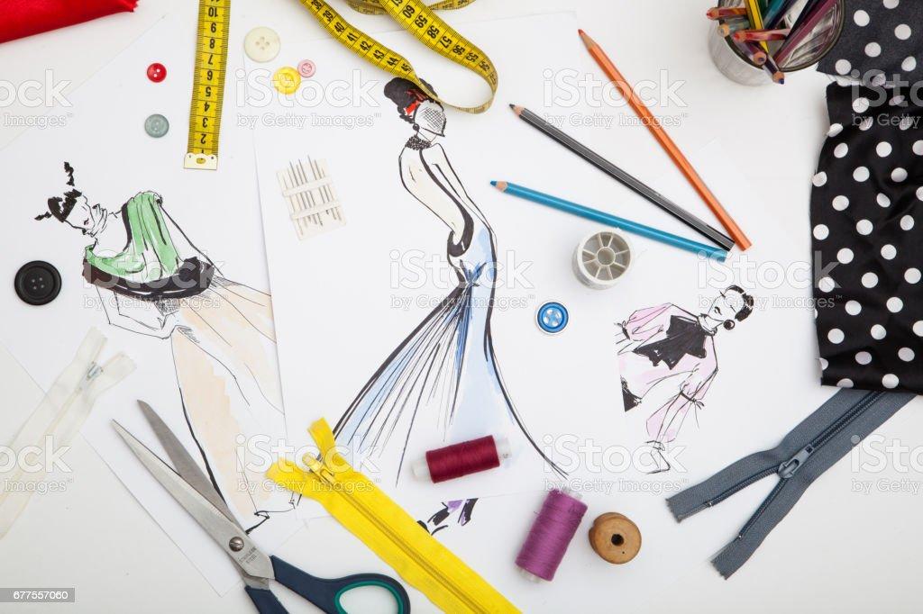 Fashion designer background royalty-free stock photo