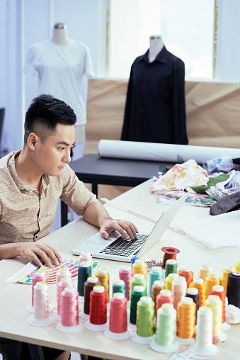 Fashion Designer Choosing Color Scheme Stock Photo Download Image Now Istock