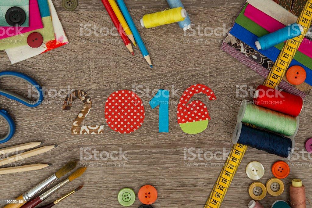 Fashion Designer Desk New Year 2016 Stock Photo Download Image Now Istock