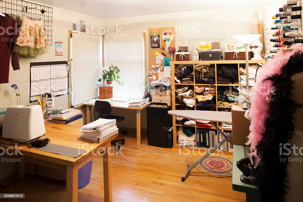 Fashion Designer Home Office And Studio Stock Photo More Pictures