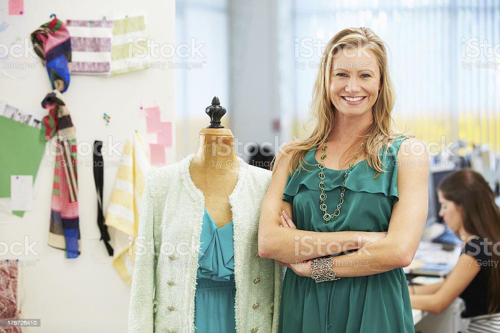 Fashion Designer In Studio royalty-free stock photo