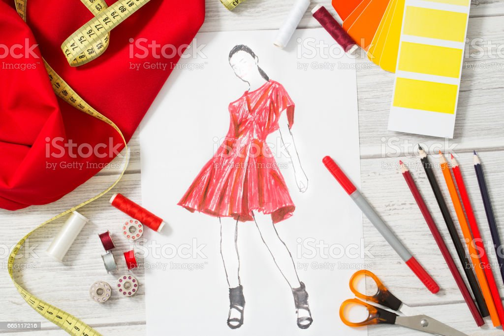 Fashion designer. stock photo