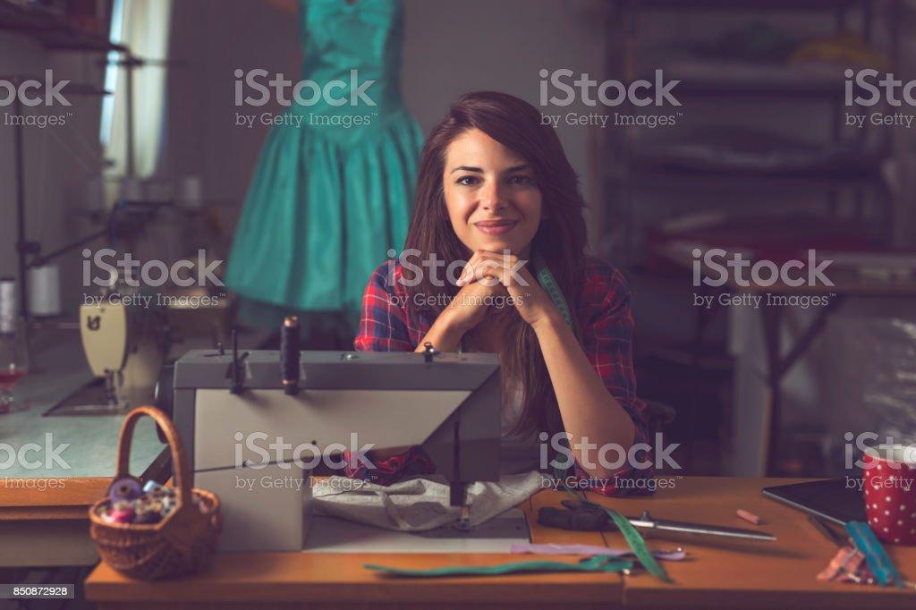 Fashion designer stock photo