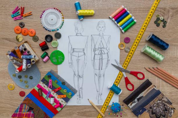 fashion designer sketch Fashion Design fashion designer stock pictures, royalty-free photos & images
