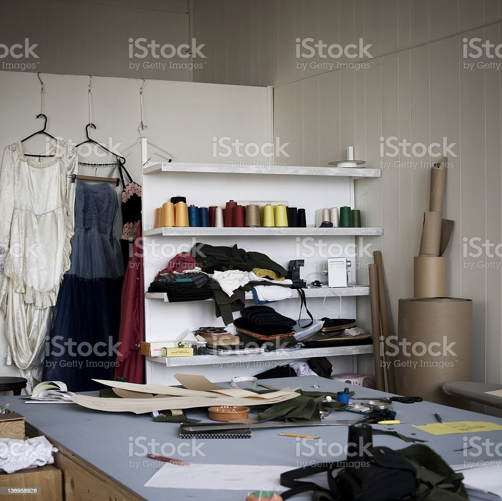 Fashion Designer Studio Stock Photo More Pictures Of Coathanger Istock