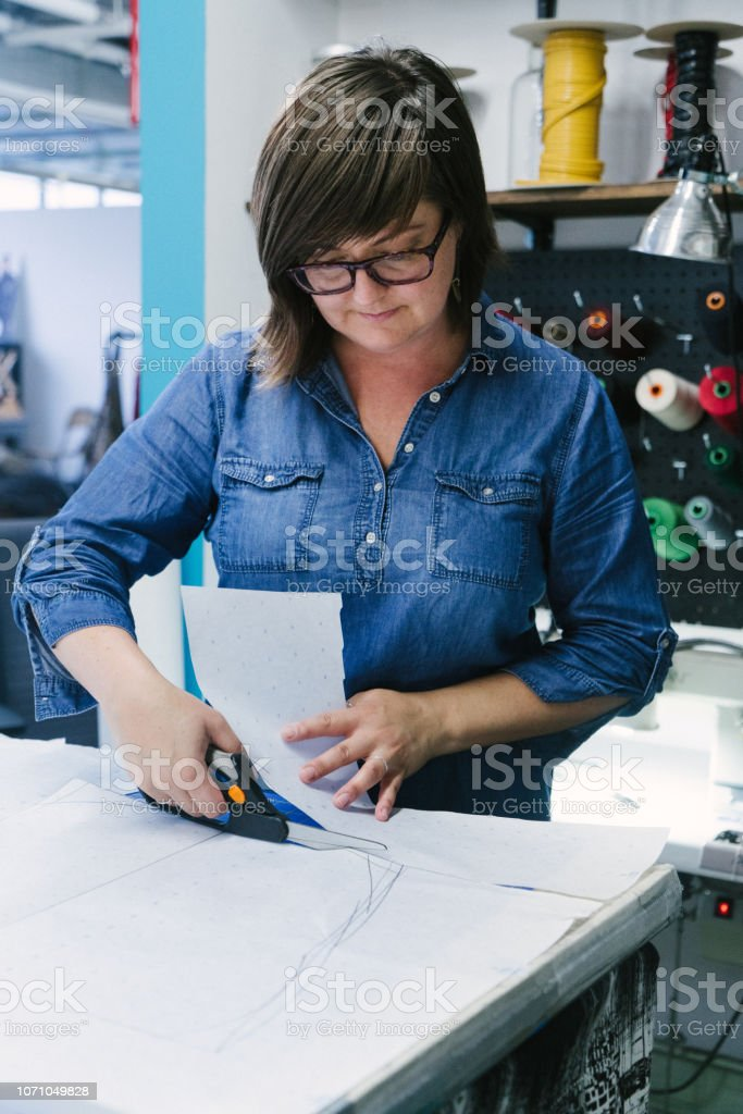 Fashion Designer Working In Her Studio Stock Photo Download Image Now Istock
