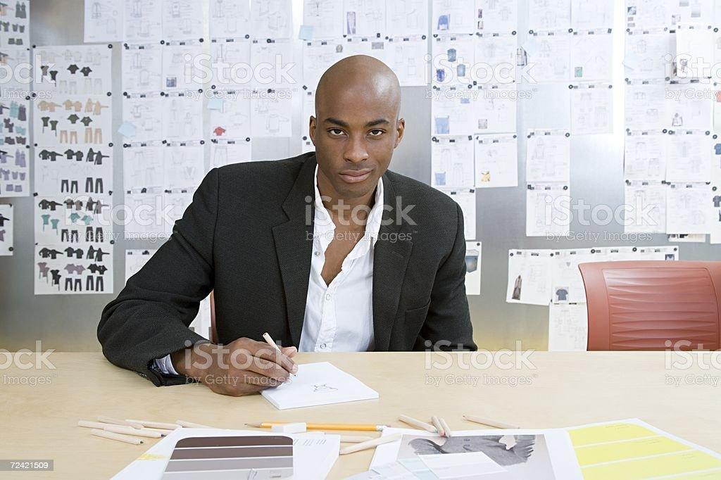 Fashion designer working royalty-free stock photo
