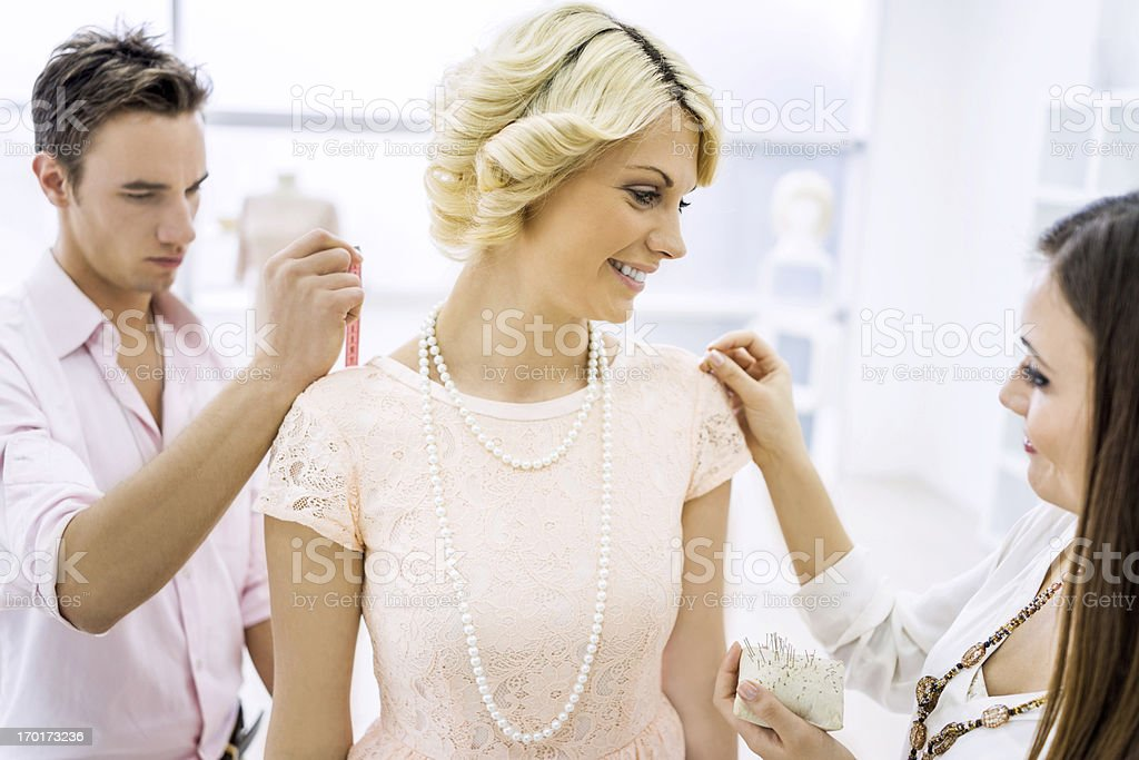 Fashion designers working in team royalty-free stock photo