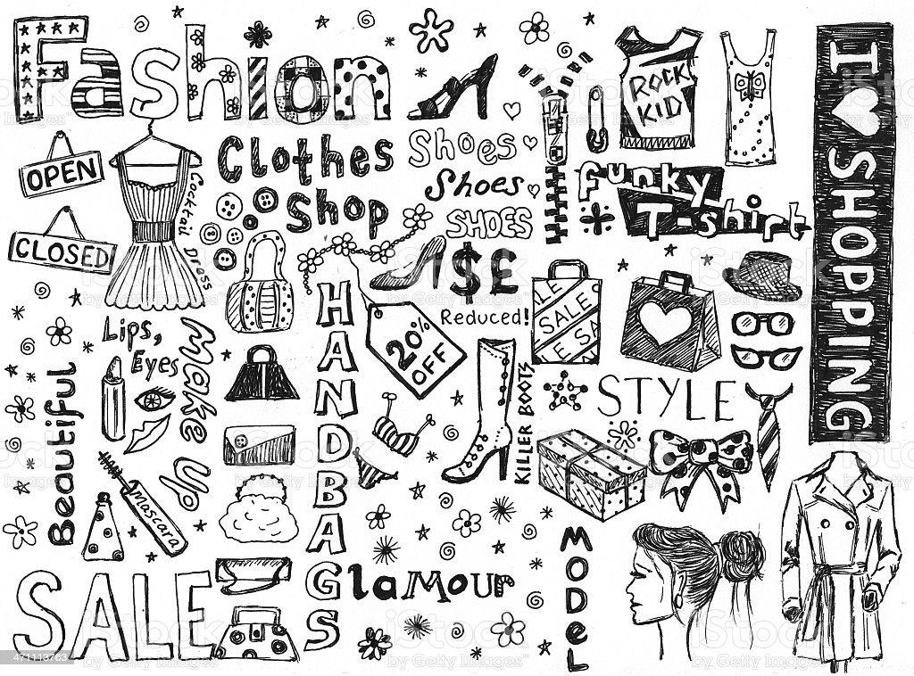 Fashion doodles - Royalty-free Bedrijven financiën en industrie Stockfoto