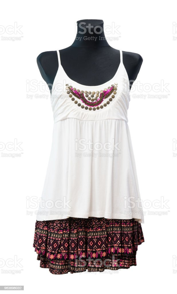 Fashion Dress On Mannequin Isolated - Royalty-free Backgrounds Stock Photo
