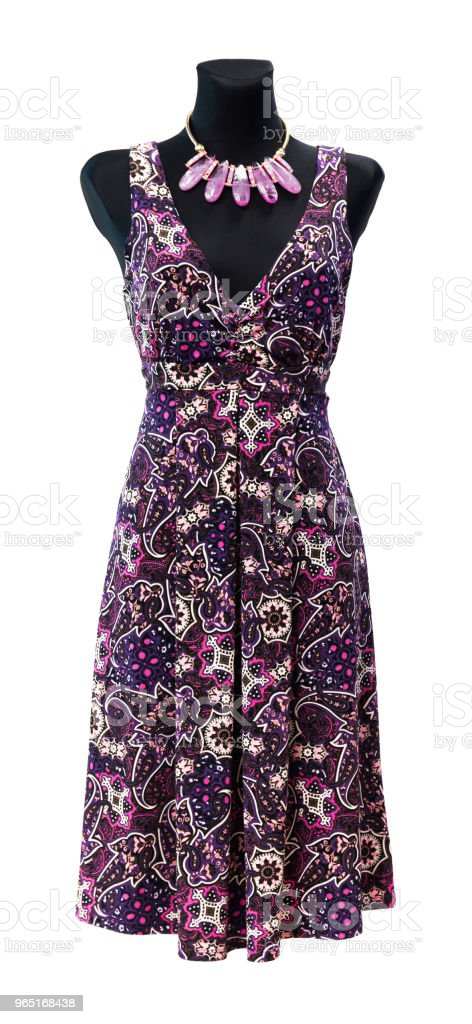 Fashion Dress On Mannequin Isolated royalty-free stock photo
