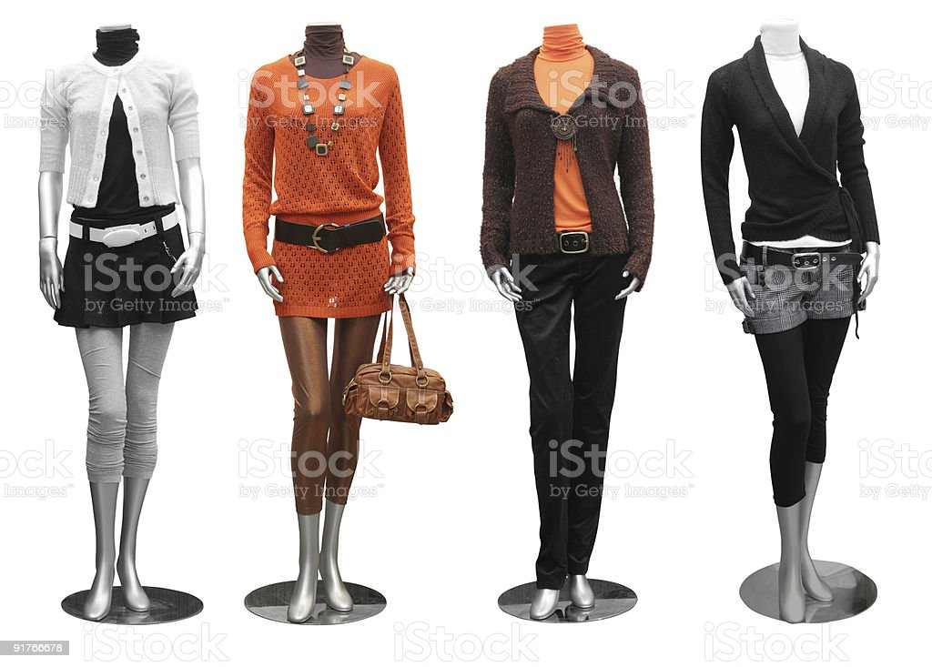 fashion dress on mannequin stock photo