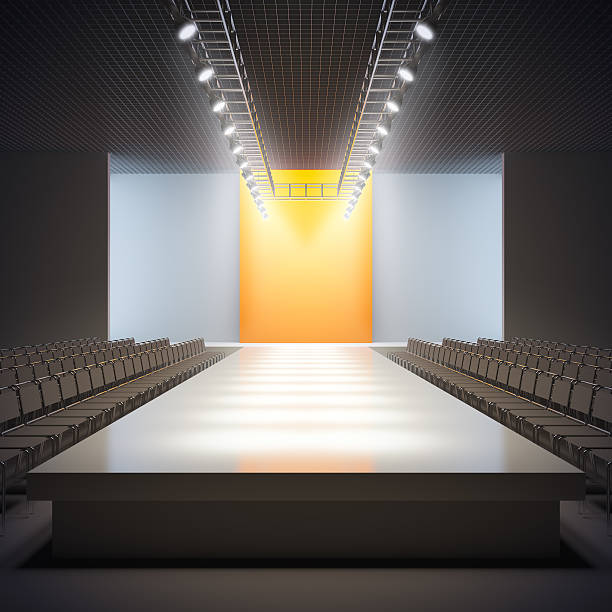 Fashion empty runway. A 3D illustration of fashion empty runway. ramp stock pictures, royalty-free photos & images