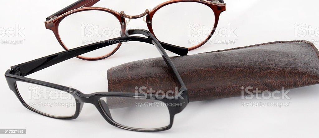 fashion eyeglasses on a white backfround stock photo