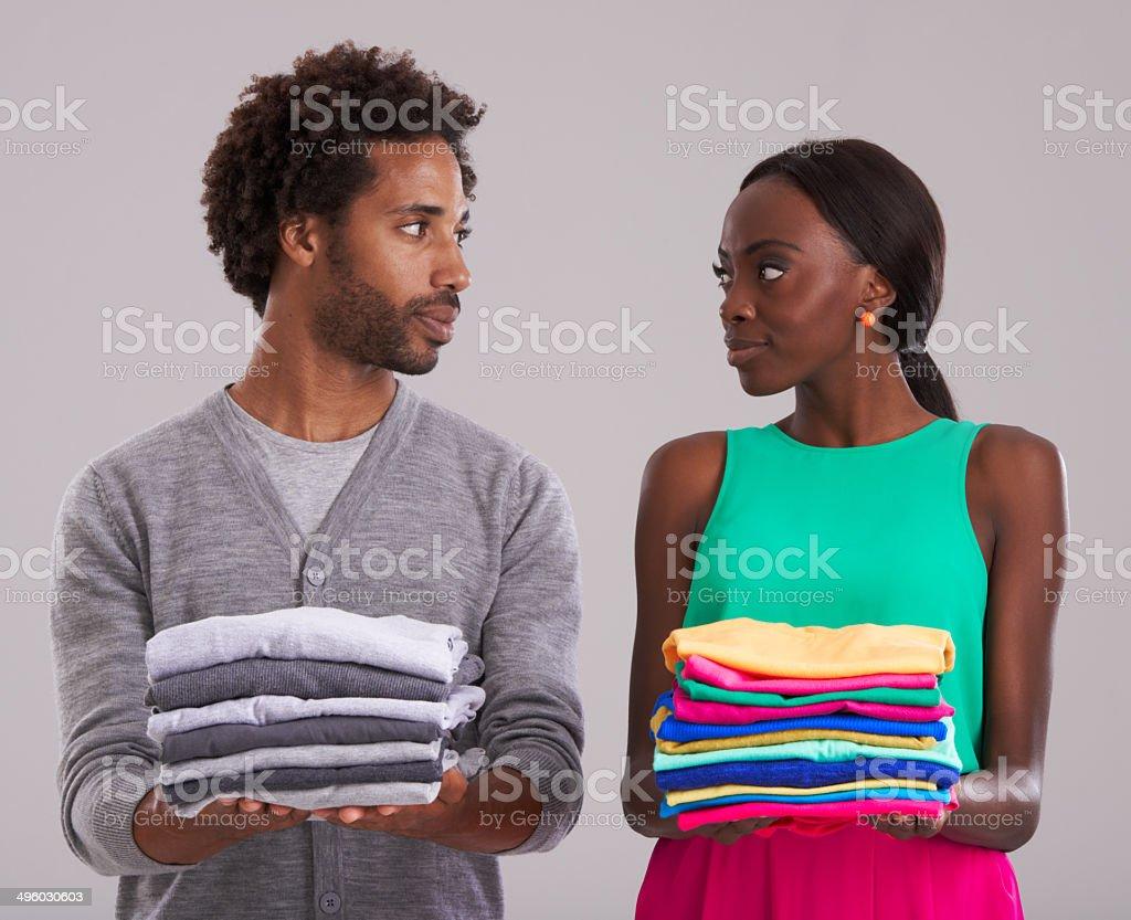Fashion faceoff stock photo