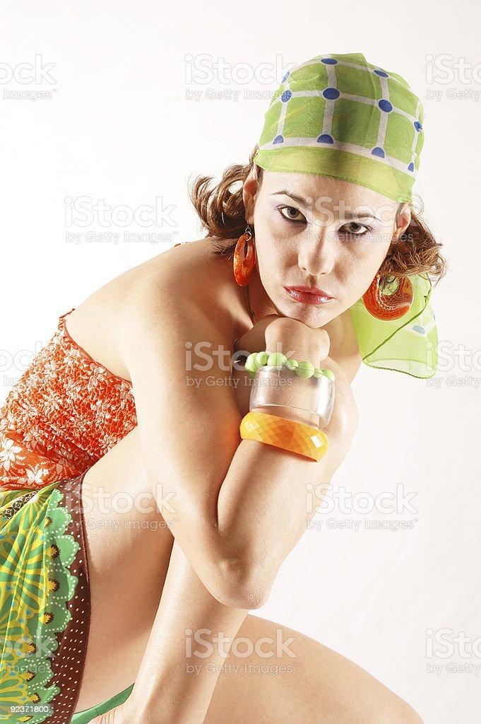 Fashion female isolated royalty-free stock photo