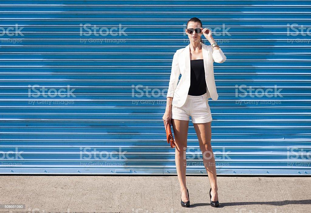 Fashion female model posing stock photo