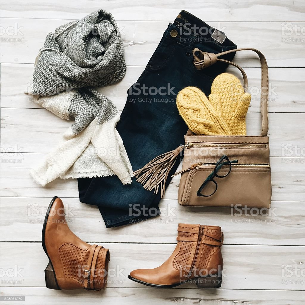Fashion Flat Lay stock photo