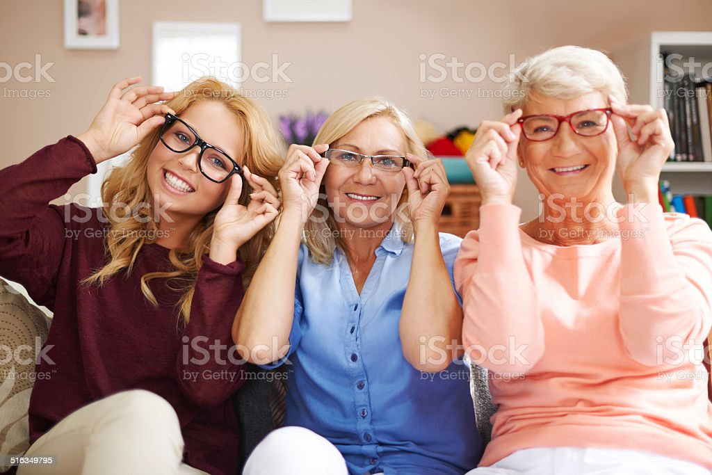 Fashion frames of glasses for each stock photo