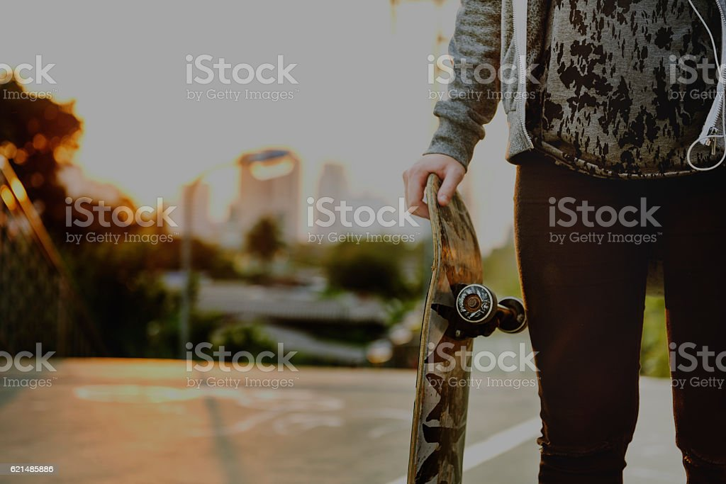 Fashion Free Relax Skateboard Trendy Teenager Concept foto stock royalty-free